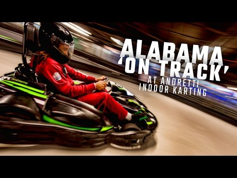 Watch as Jalen Hurts and his Alabama teammates race go-karts at the Peach Bowl