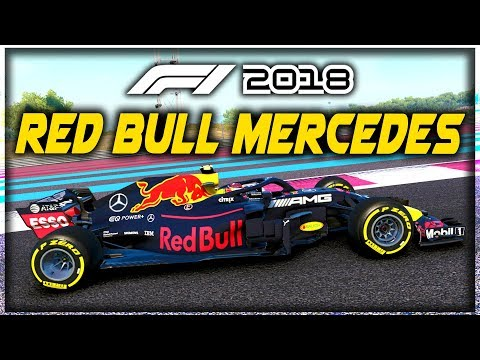 WHAT IF THE RED BULL F1 TEAM HAD A MERCEDES ENGINE?! - F1 2018 Game Experiment