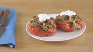 Diabetes Food Hub: Mediterranean Unstuffed Peppers