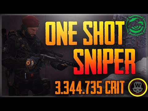One Tap Sniper Build! PVP&PVE - Classified DeadEYE gameplay (The Division 1.7)