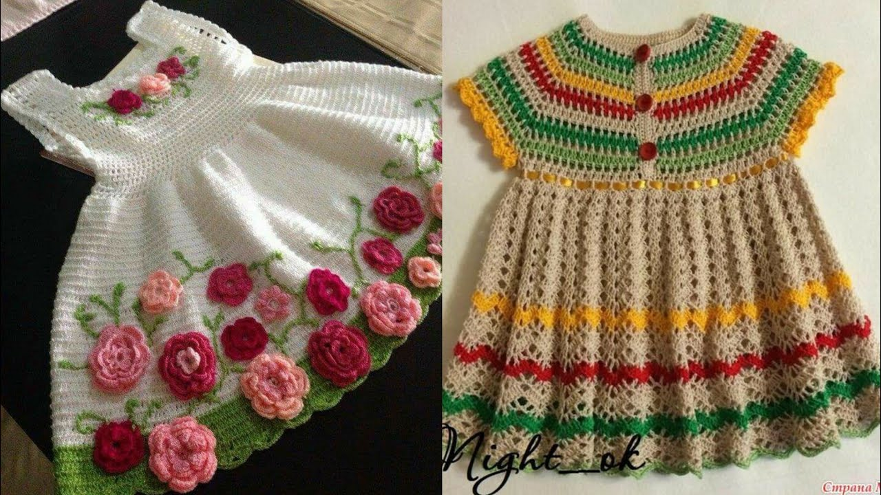 Unique And Stylish Hand knitting And Crochet Baby Frocks ...