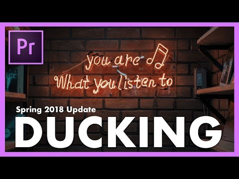 How to Auto Duck Music Against Voice in Adobe Premiere Pro CC - Essential Sound Tutorial