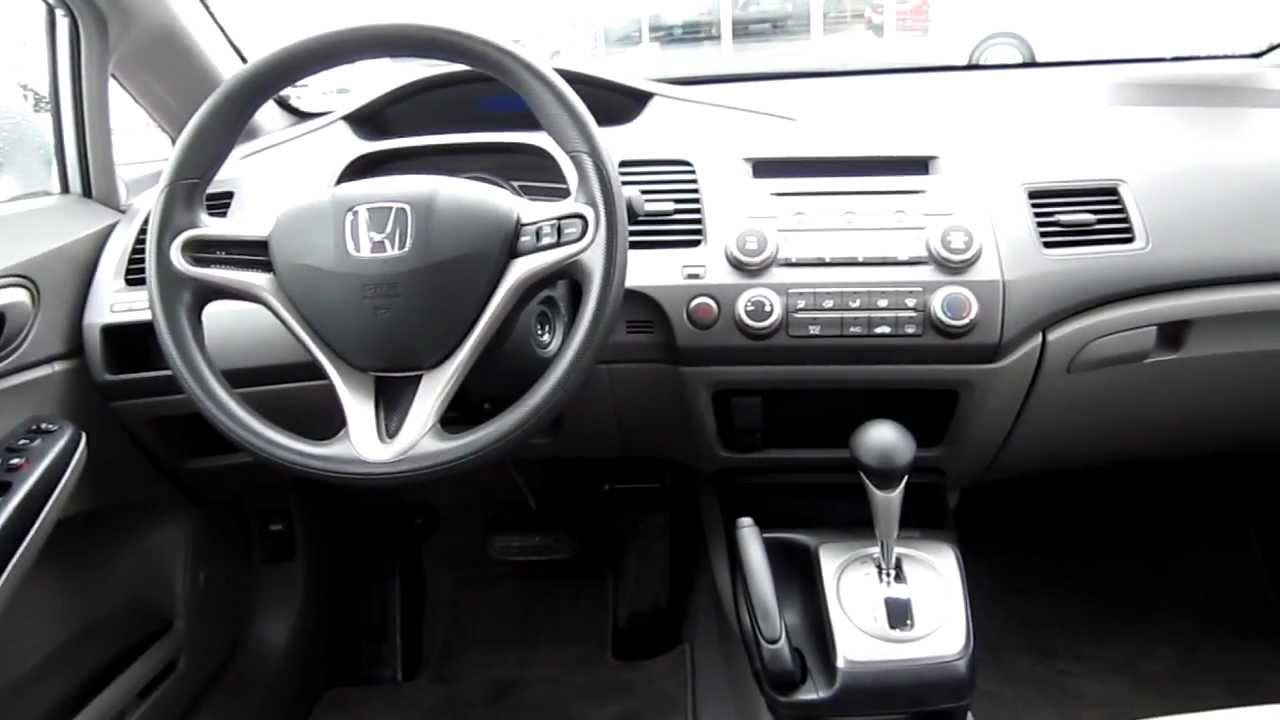 2009 Honda Civic Gx Silver Stock 12304px Interior
