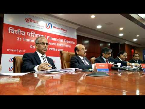 Union Bank of India Announced It's Financial Results for Q-3/Nine months ended December 31,2016