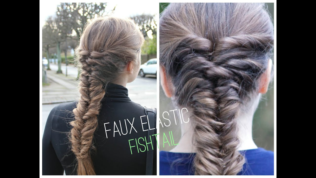 EASY Faux Elastic Fishtial braid tutorial - HairAndNailsInspiration ...