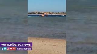 قرية سياحية تدمر الشعاب المرجانية في البحر بالغردقة .. فيديو وصور