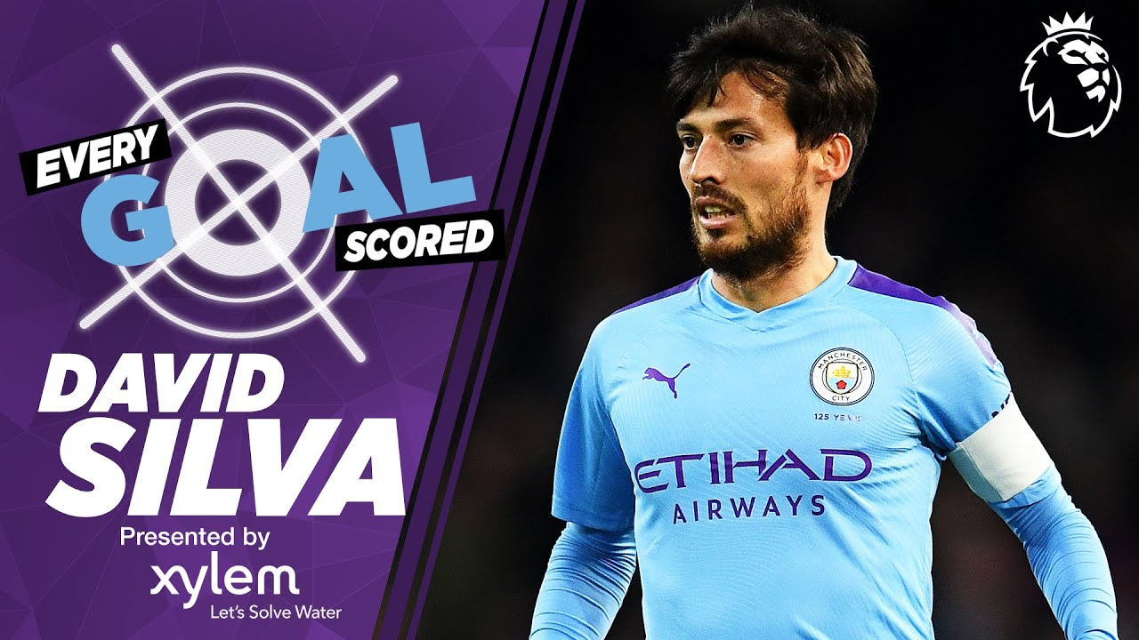 DAVID SILVA | RAINING GOALS | EVERY PREMIER LEAGUE GOAL SCORED | MAN CITY