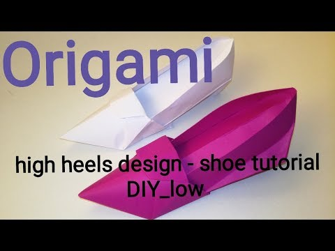 Origami high heels design - shoe tutorial 🇱🇰
