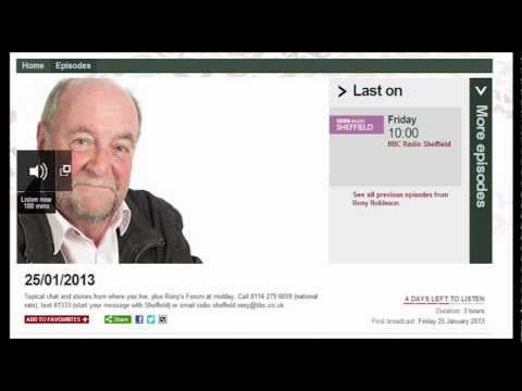 Godfrey Bloom on BBC Radio Sheffield 25/01/2013