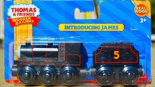2015 Thomas Wooden Railway Introducing James Toy Train Review By Mattel Fisher Price