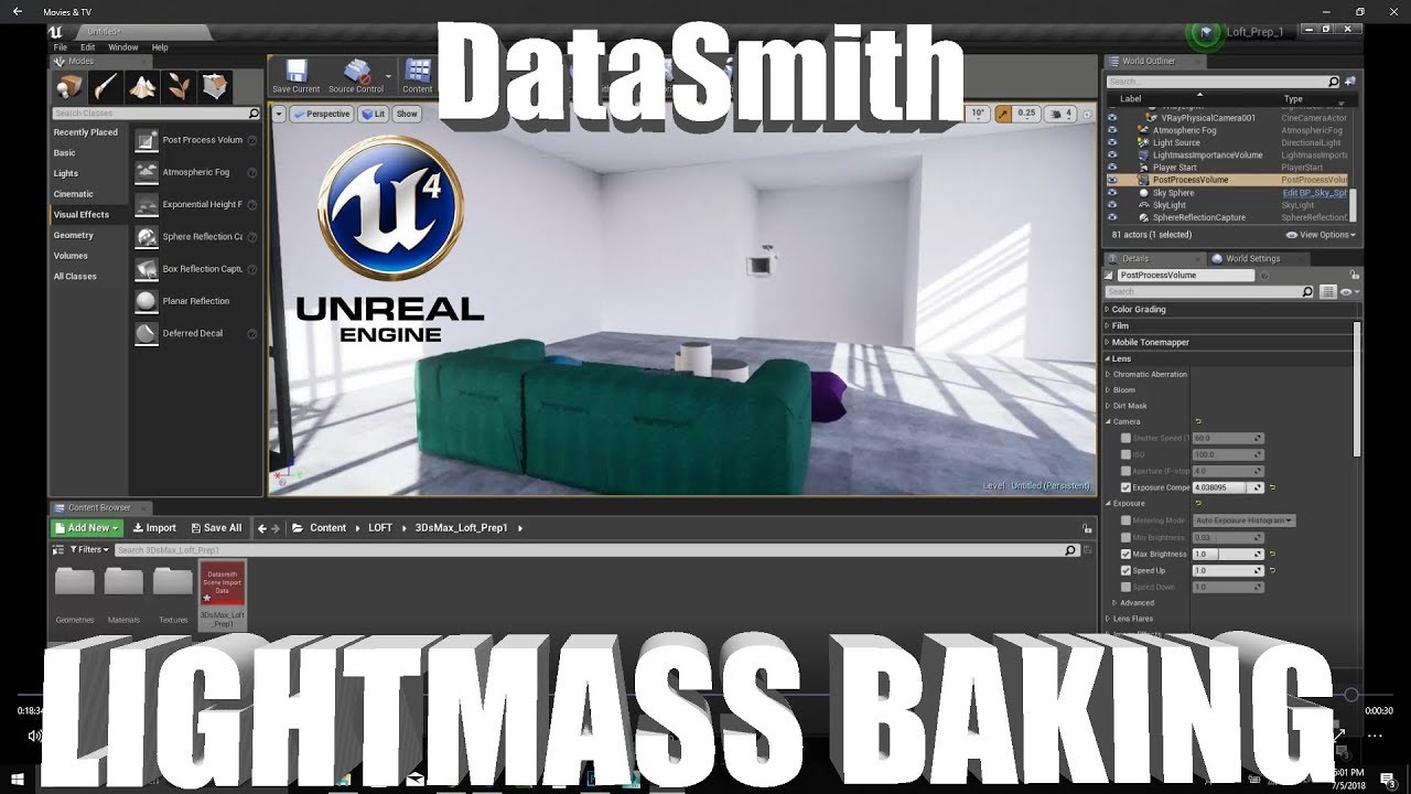 UNREAL ENGINE 4 DataSmith Lightmass Backing