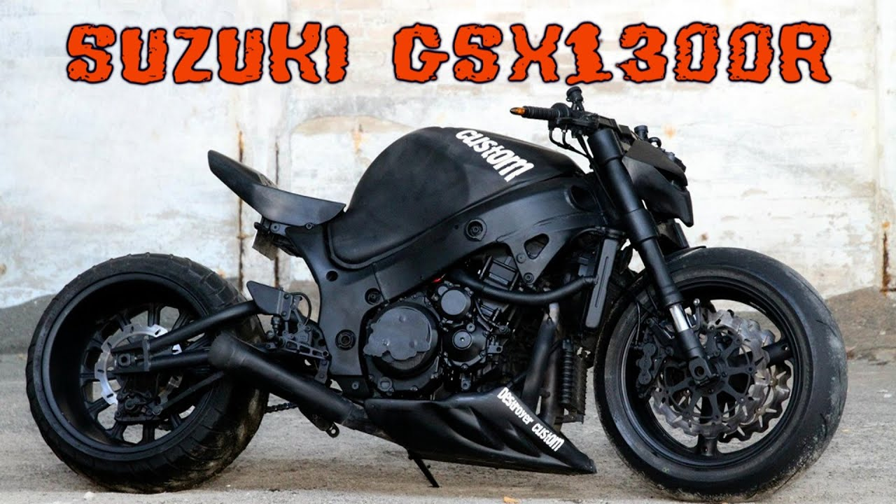 Suzuki gsx1300r Hayabusa custom - YouTube