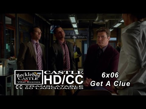 "Castle 6x06  End Scene ""Get A Clue"" Where the Treasure Will Go 
