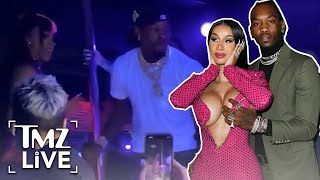 Offset Punches Fan While Defending Cardi B | TMZ Live