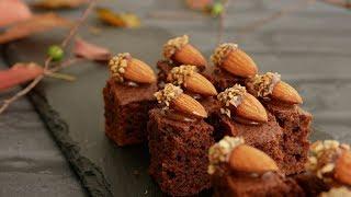 秋だもん。どんぐりころころチョコケーキ♪ | Almond Acorn Chocolate ca...