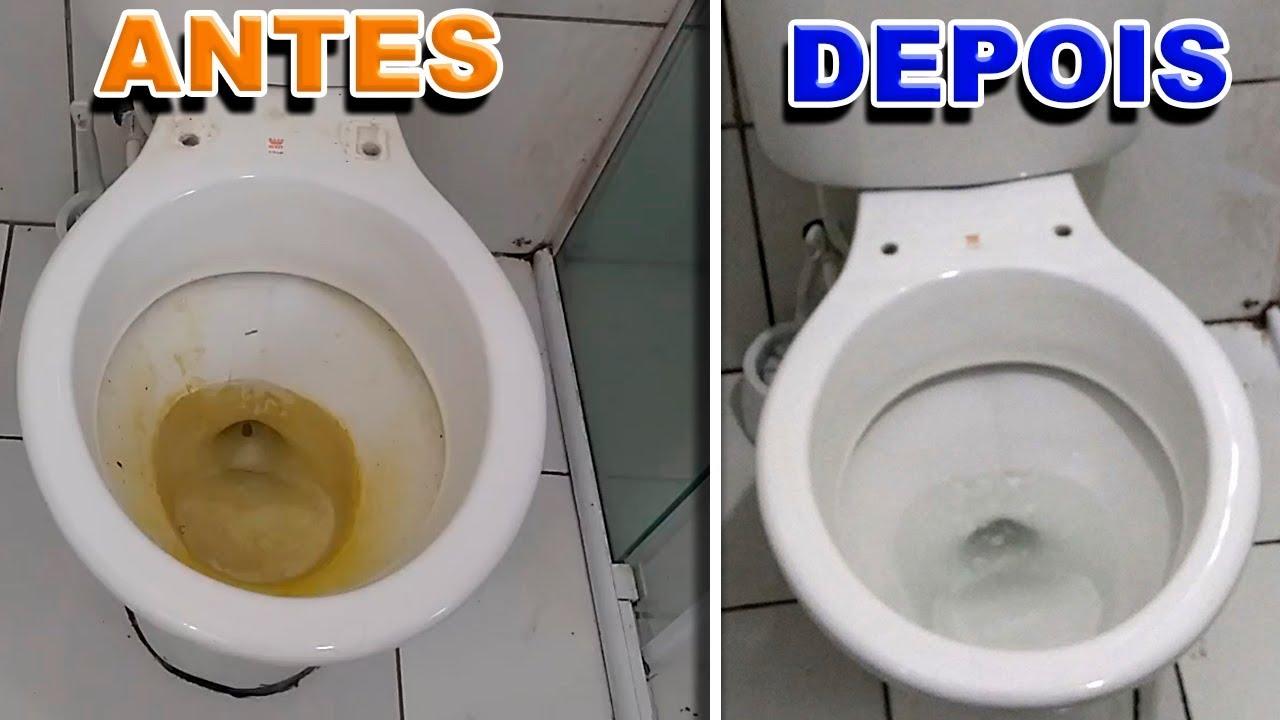 como limpar piso branco amarelado