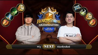 Hi3 vs Alan870806 | 2021 Hearthstone Grandmasters Asia-Pacific | Semifinal | Season 1 | Week 2