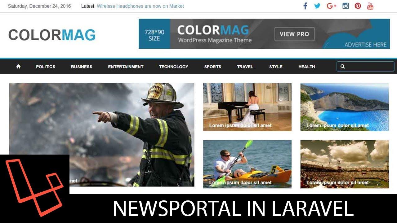 News Portal In Laravel | Tutorial | Lesson 3 | General Settings | webtrickshome