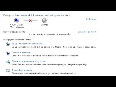 How To Enable Network Connection In Windows 7 Laptop & PC