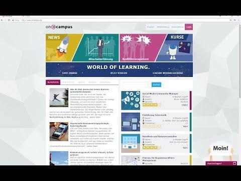 """Weiterbildungsanbieter oncampus mit neuem Bildungsshop: Start der Webseite """"World of Learning"""""""