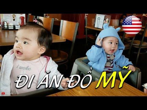 🇺🇸Đi ăn đồ Mỹ nhà hàng Denny   Cuộc sống Mỹ Washington   Quang Lê TV #110