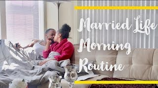 MARRIED LIFE MORNING ROUTINE | Young and Married ☀️✨�...