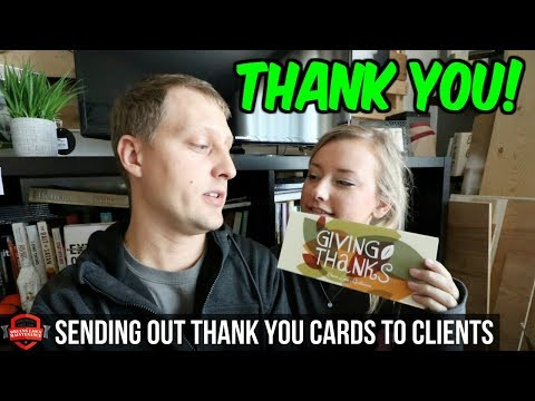 Sending Thank You Cards For Thanksgiving To Our Clients   Business Tips + Lawn Care Advice!
