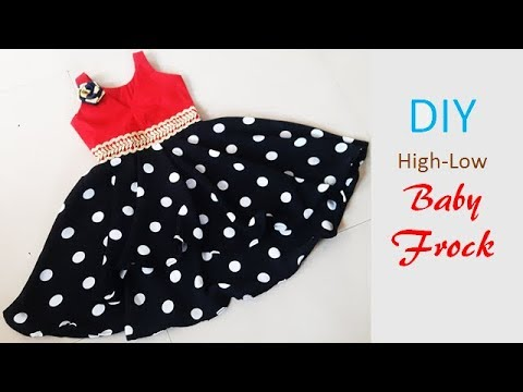 5b3c6360c36b DIY Designer High Low Baby Frock Cutting And Stitching Tutorial ...