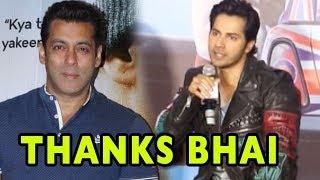 Varun Dhawan THANKS Salman Khan For Doing Judwaa 2