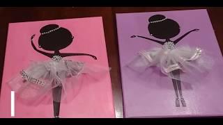 Dancing Ballerinas Canvas Dollar Tree Diy