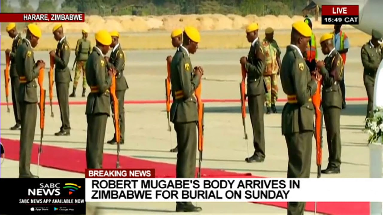 BREAKING NEWS | Robert Mugabe's body arrives in Zimbabwe