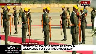 BREAKING NEWS | Robert Mugabe's body arrives in Zimbabwe