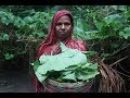 Village Food | Traditional kumra shak vaji by grandmother | Grandmother recipes-93
