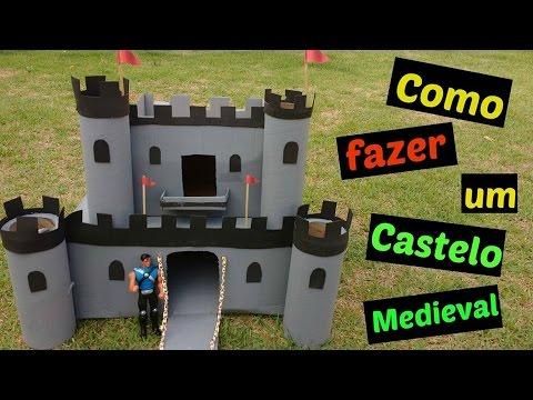 Como Fazer Um Castelo Com Papelão Diycastle Youtube