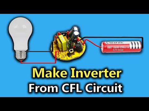 3.7v to 220v inverter from CFL Circuit