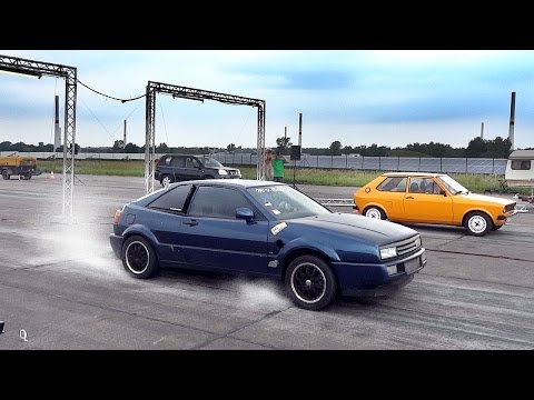 VW Corrado VR6 Twin Engine Turbo Sound & Drag Race Acceleration