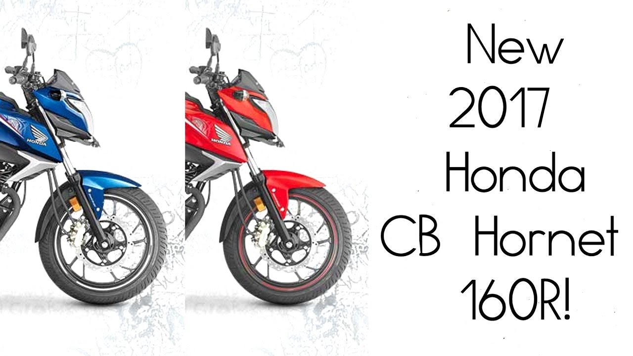 new 2017 honda cb hornet 160r with two new paint schemes. Black Bedroom Furniture Sets. Home Design Ideas