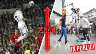 CRISTIANO RONALDO HEADER CHALLENGE!😱 *IN PUBLIC* | Billy Wingrove & Jeremy Lynch