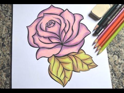Como Desenhar Uma Rosa Passo A Passo Youtube