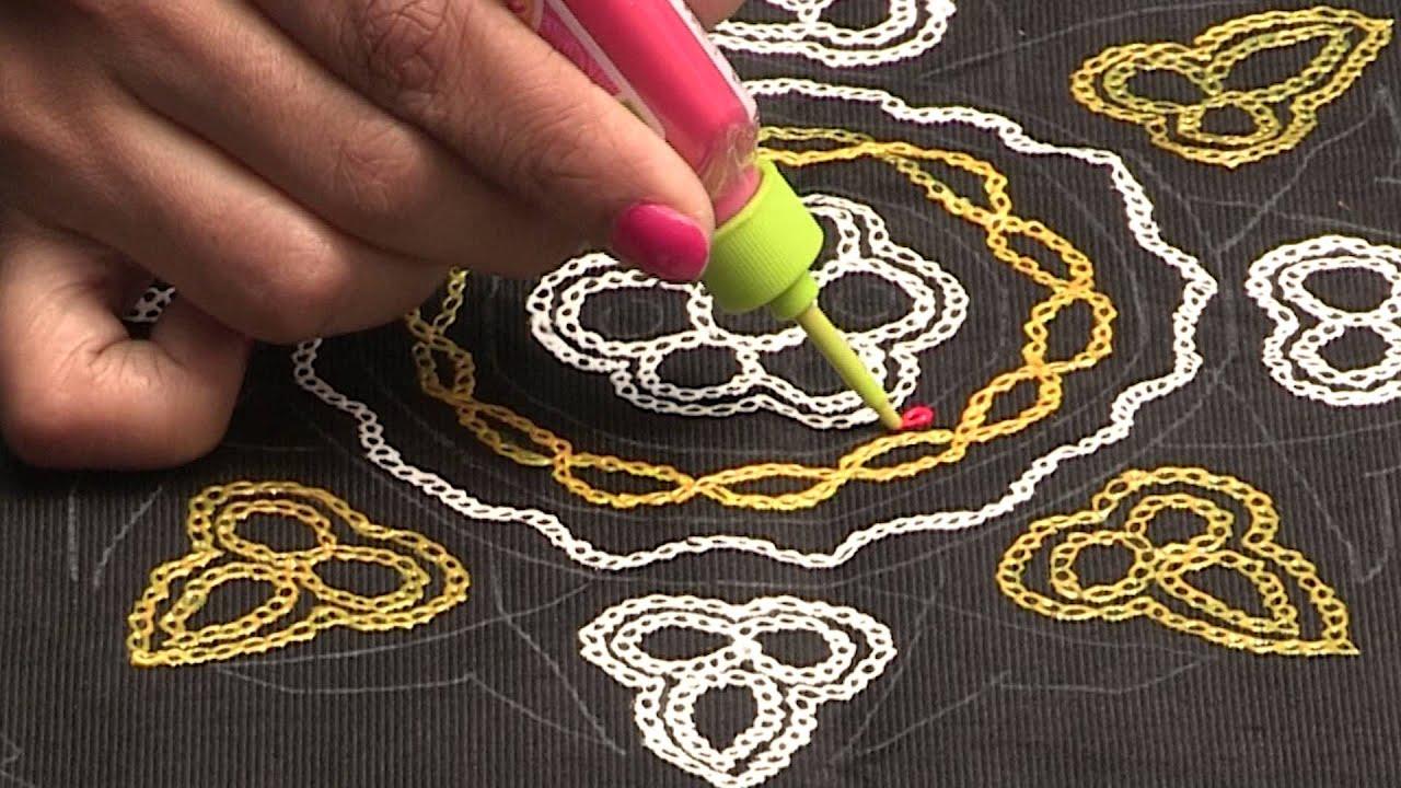 Liquid embroidery aari work butta design youtube