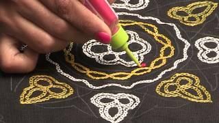 Liquid Embroidery   Aari Work Butta Design
