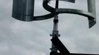 Ветротурбина из колеса от автомобиля - part 3