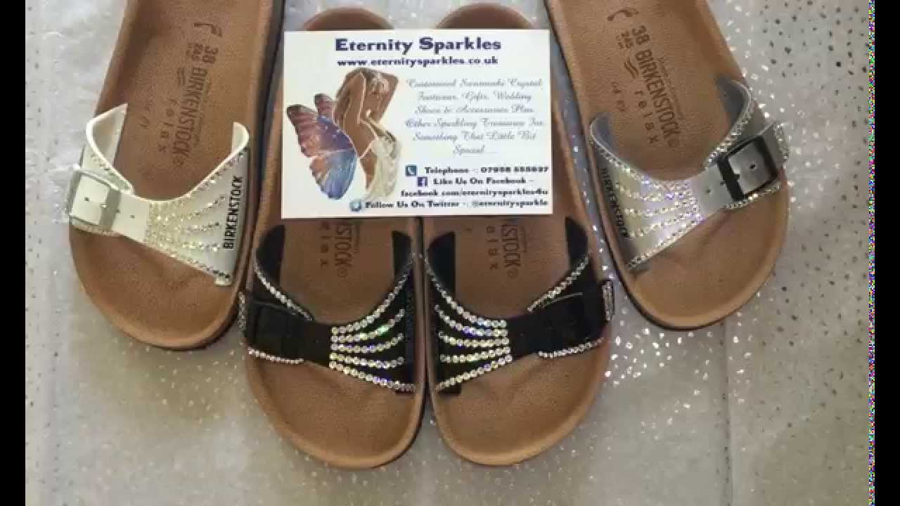 88d230cec5c Customised Birkenstock Crystal Sandals By Eternity Sparkles - YouTube