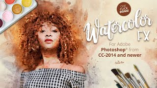 Watercolor FX - photo effect plugin for Photoshop from CC-2014 and newer