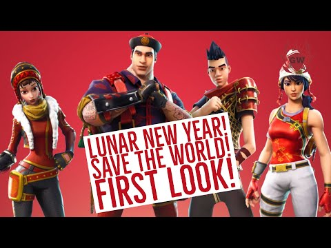 FORTNITE - LUNAR NEW YEAR EVENT! SAVE THE WORLD! FIRST LOOK! PVE! GAMERZWORLD!