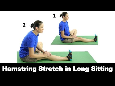 Hamstring Stretch in Long Sitting Ask Doctor Jo