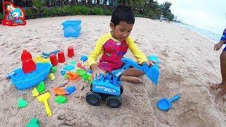 น้องบีม | เล่นรถของเล่นที่หาดทรายริมทะเล เที่ยวเพชรบุรี รีเจ้นท์ ชาเล่ต์ หัวหิน Cars Toys