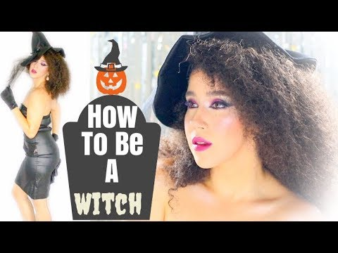 Get Ready With Me Glam Vintage Witch Costume   Halloween Makeup Tutorial Witch   #Halloween