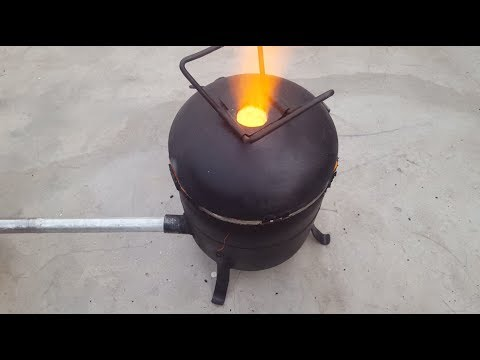 Make a Simple Metal Foundry Using Empty Gas Cylinder.