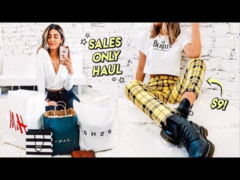 Shopping ONLY Sales…  Zara, H&M, Topshop SALE HAUL ☆